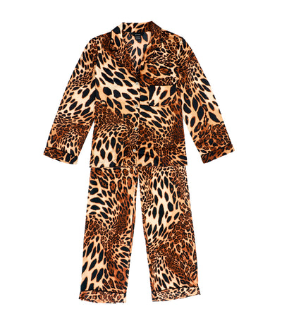 natori luxe leopard notch pajama set