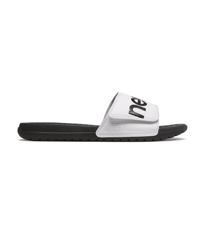new balance slide 230 black and white
