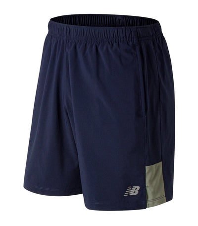 new balance accelerate 7 inch shorts green