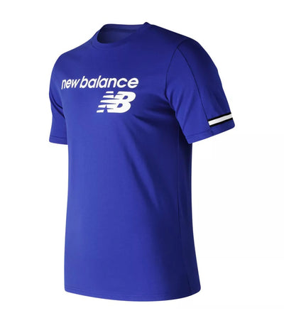 new balance nb athletics heritage t-shirt blue