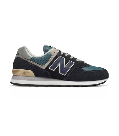 new balance 574 sneakers dark navy with marbled blue