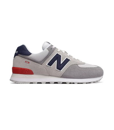 new balance 574 marbled street sneakers nimbus cloud with team red