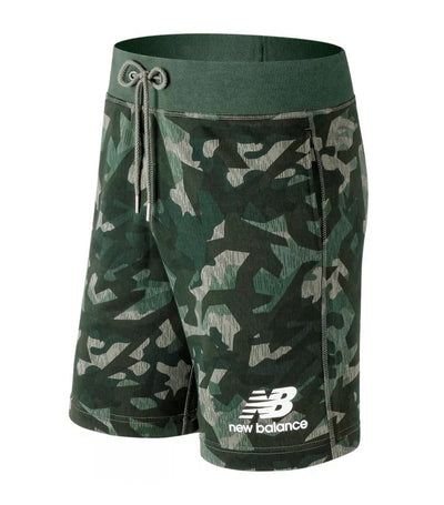 new balance essentials stacked logo shorts military green