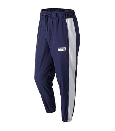 new balance nb athletic windbreaker pants blue