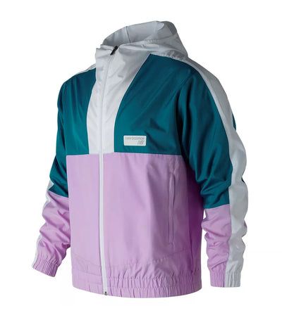 new balance nb athletics windbreaker multi-pink