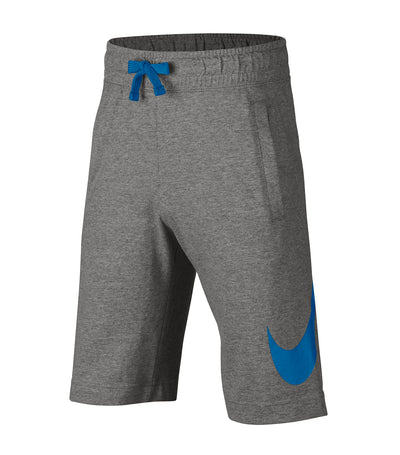 nike youth boys nsw jersey shorts hbr gray
