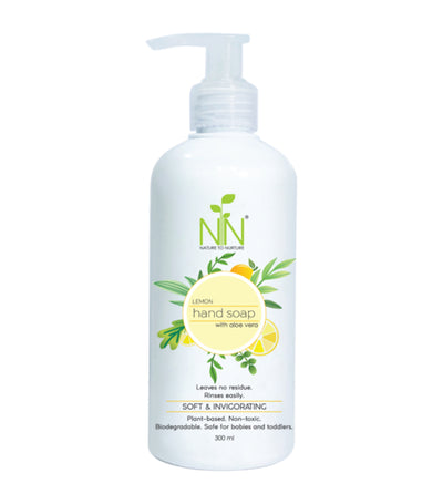 nature to nurture lemon hand soap with aloe vera 200ml