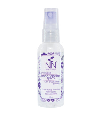 nature to nurture lavender hand sanitizer spray with chamomile and aloe vera 50ml