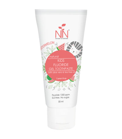 nature to nurture kids fluoride gel toothpaste, 3 years and up (watermelon)