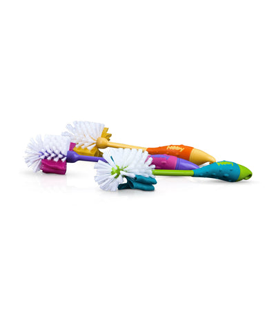 nuby assorted 1-piece deluxe nipple/bottle brush