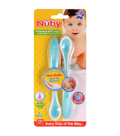 nuby assorted 2-pack hot safe™ safety spoon
