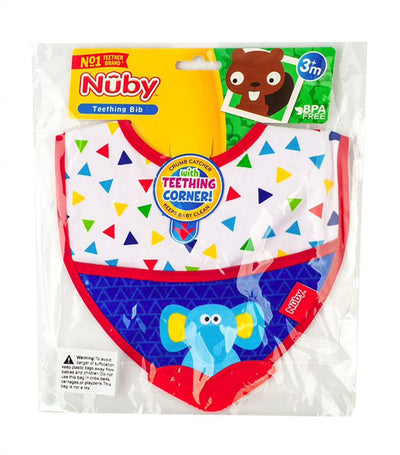 nuby teether bib with velcro closure