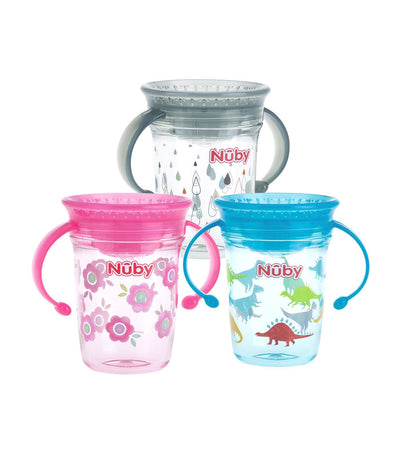 nuby assorted single 360° wondercup with twin handles