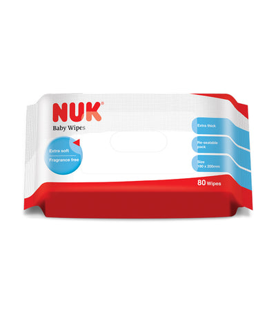 nuk baby wipes 80 pieces