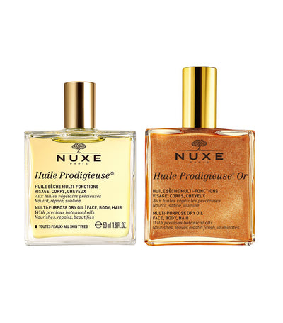 nuxe huile prodigieuse® beauty dry oil favorites duo