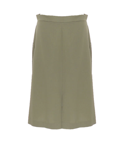 oleg cassini woman mireya midi skirt green