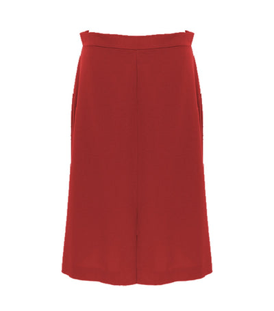 oleg cassini woman mireya midi skirt red