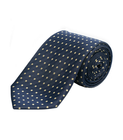 oleg cassini man blue dots premium silk necktie