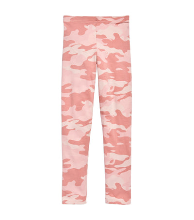 old navy kids pink camo built-in tough full-length leggings