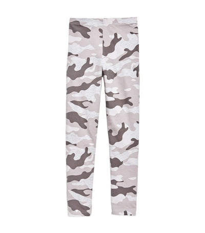 old navy kids gray camo built-in tough full-length leggings