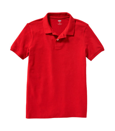 old navy kids red tape uniform built-in flex pique polo