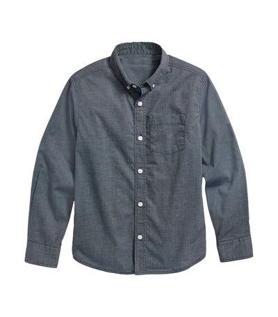 old navy kids lost at sea navy built-in flex long-sleeve shirt