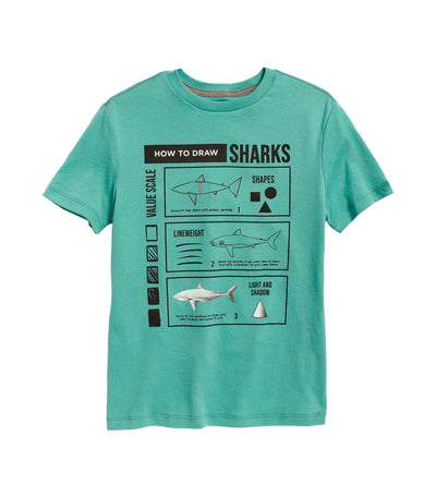 old navy kids gender-neutral short-sleeve graphic tee - english channel