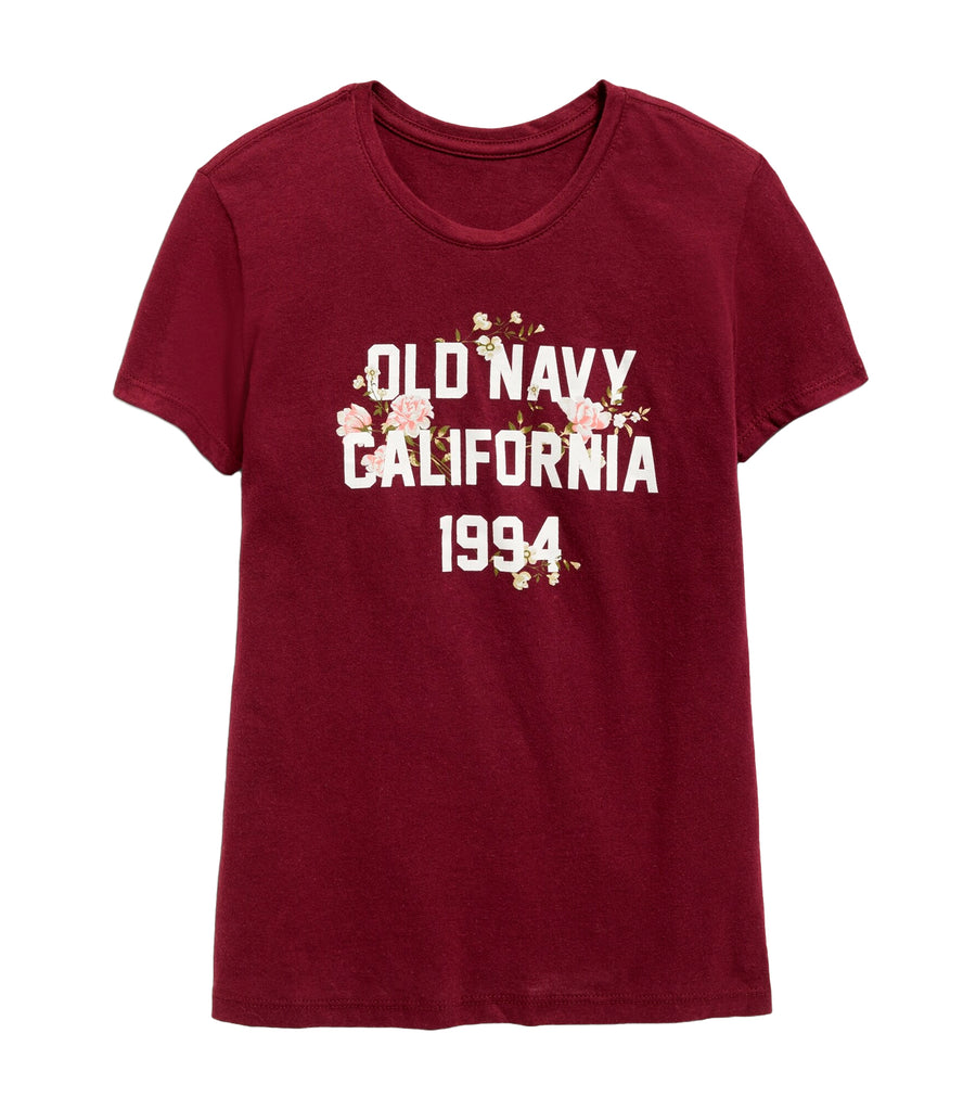 old navy kids wine stain short-sleeve graphic tee