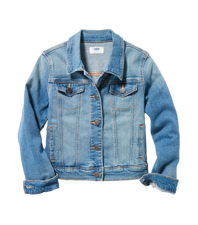 old navy kids medium-wash jean jacket