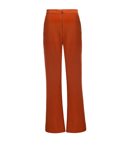 oleg cassini julie flared pants rust