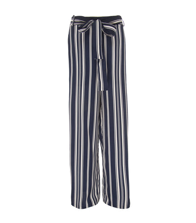 oleg cassini philomena stripped wide legged pants