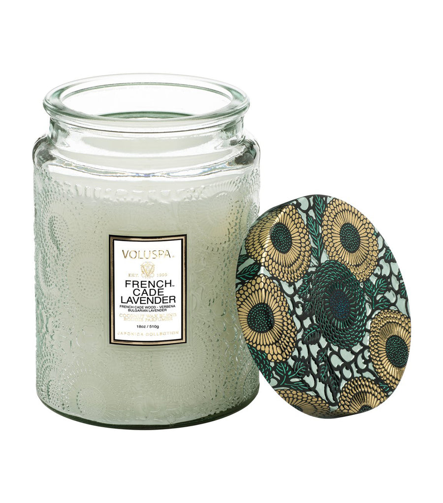 voluspa french cade lavender - large jar candle