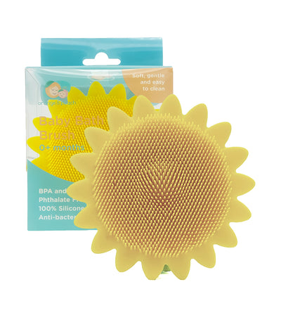 orange and peach silicone baby bath brush