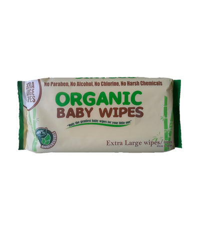 organic baby wipes (50 wipes) xl