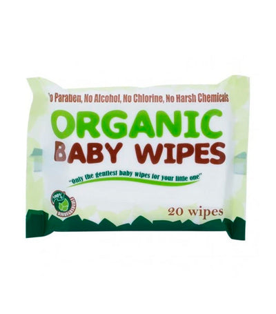 organic baby wipes (20 wipes) - pack of 6