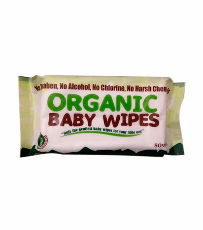 organic baby wipes (80 wipes) - pack of 6