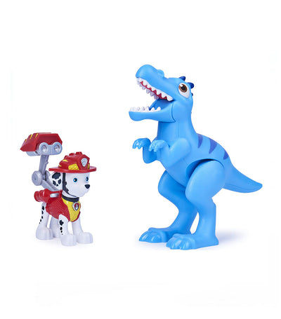 paw patrol multicolor dino rescue action figure set - marshall and velociraptor
