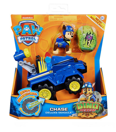 paw patrol blue dino rescue deluxe vehicle - chase
