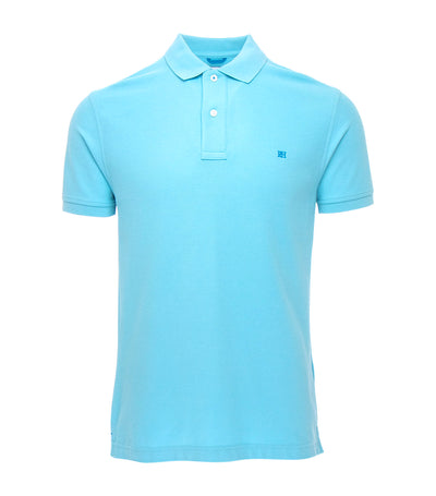 pedro del hierro classic fit polo shirt light blue