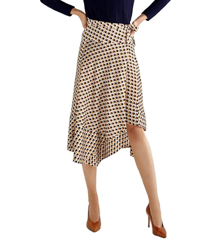 Pareo Printed Asymmetrical Skirt
