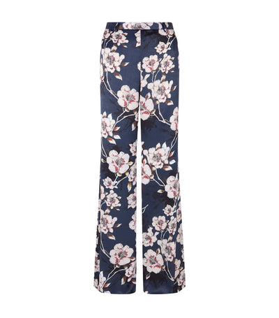 pedro del hierro floral relaxed wide leg pants