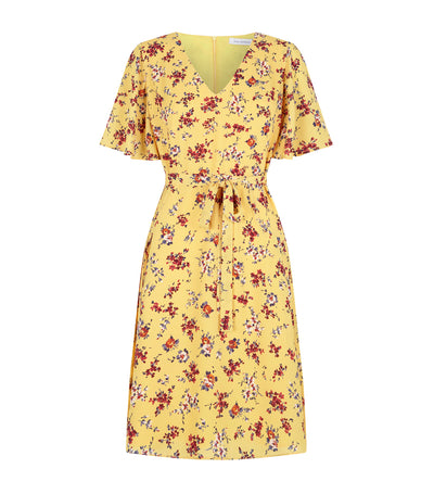 pedro  del  hierro yellow  sunday  dress