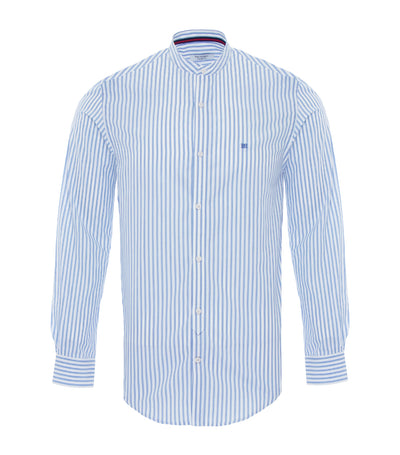 pedro del hierro mao collar sports shirt blue