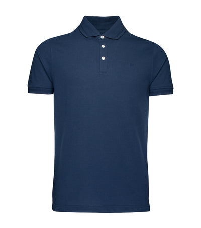 pedro del hierro dry touch crepe short-sleeved polo shirt blue