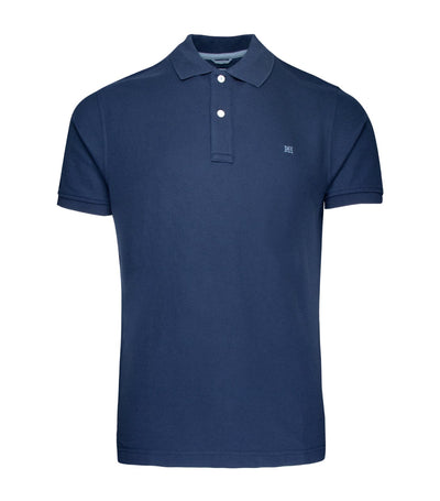 pedro del hierro slim fit basic short-sleeved polo shirt navy