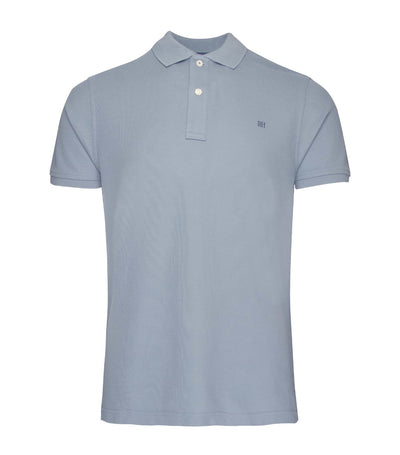 pedro del hierro slim fit basic short-sleeved polo shirt blue
