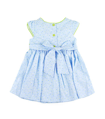 periwinkle blue chari s19 smock dress