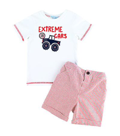 periwinkle white brad s19 infant t-shirt and shorts set