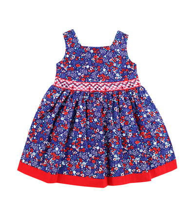periwinkle red cinderella s19 smock dress