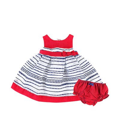 periwinkle red and navy bliss s19 infant dress